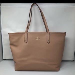 Coach Tan Blush Large Tote Bag Purse